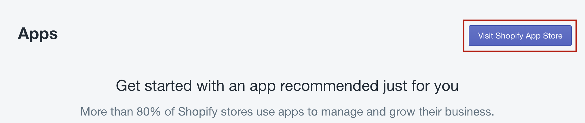 visit Shopify app store