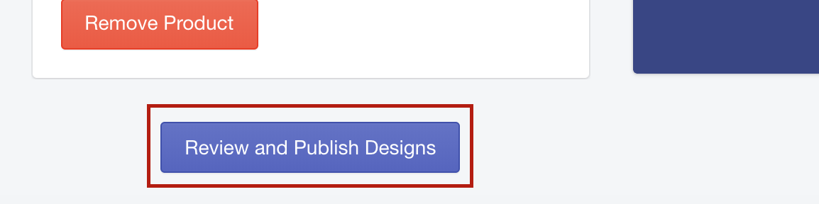 review and publish designs