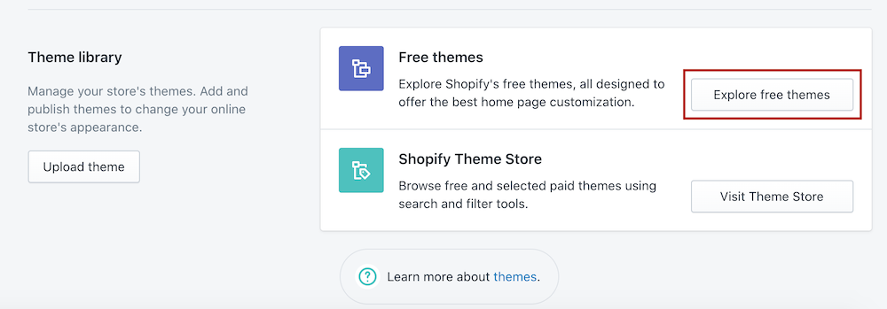 explore free themes Shopify